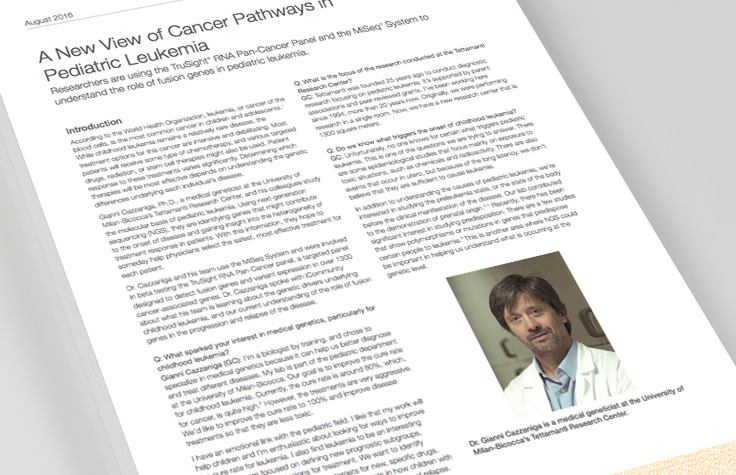 New Views of Cancer Pathways in Pediatric Leukemia