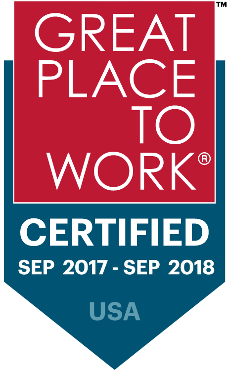 Great Place to Work® Certified Sep 2017 - Sept 2018 USA