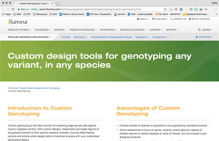 Custom Genotyping Options